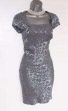 Karen Millen Blue Jacquard Cap Sleeve Cocktail Party Day Mini Dress UK10  EU38