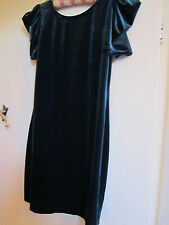 Thigh Length Green Stretch Bodycon Velvet Style D Perkins Party Dress in Size 14