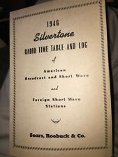 1946 Sears Silvertone Radio Time Table Of American & Foreign Short Wave Stations