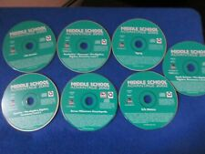Lot of 7 Cd-Roms 2002 Middle School Advantage Spanish, Science, Math, English