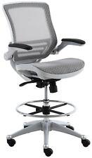 Harwick Evolve All Mesh Heavy Duty Drafting Chair In Platinum Finish (NIB)