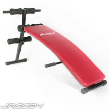 Abs Abdominal Sit Up Bench Foldable Incline Gym Fitness Exercise Equipment Red