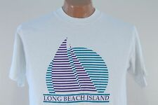 Vtg Long Beach Island T Shirt - 90s 50 50 Thin - Men's Extra Large XL