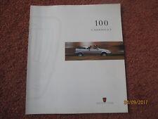 Rover 114 Cabriolet 1995-97 UK Market Foldout Sales Brochure 100 Series