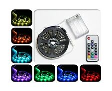 ACONDE Battery Powered LED Strip Lights, RF Remote Controlled, Multi-Color Ch...