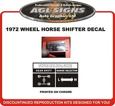 1972 Wheel Horse Raider 10  Reproduction Shift Control Decal