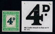 """South Africa, SG D42a, MNH, """"Crude Retouch to 4"""" variety"""