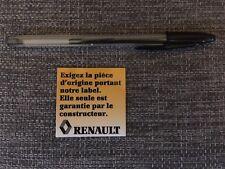 Autocollant Renault super 5, clio, R19 - pièces origines