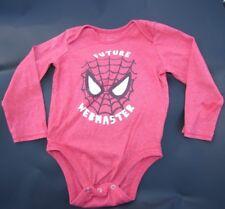 Old Navy bodysuit Size 12, 18-24 months Spiderman Red boy Future Webmaster NEW