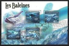 Animaux Baleines Centrafrique (207) série complète de 4 timbres oblitérés
