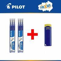 Recharge Pilot Frixion cartouche frixion ball clicker encre bleu x 6 + gomme