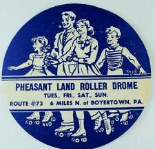 1930's-50's Pheasant Land Roller Drome, Boyertown, PA. Label Vintage B3