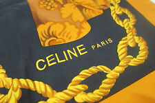 AUTH VINTAGE CELINE PARIS SILK SCARF/SHAWL  MADE IN  FRANCE