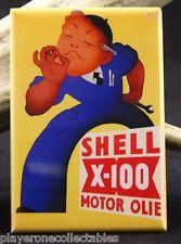 """Shell Oil Vintage Advertising 2"""" X 3"""" Fridge / Locker Magnet."""