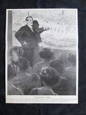 L'esploratore svedese Sven Hedin a Parigi Stampa del 1909