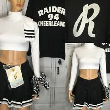 Cheerleading Uniform Raiders Adult Large 6pc Set