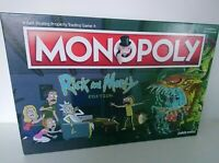 Monopoly Rick and Morty Edition Board Game Adult 17+ 100% Complete