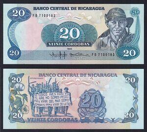 Nicaragua 20 cordobas 1988 FDS/UNC  B-09