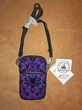 Nwt Disney Haunted Mansion Purple Wallpaper Smartphone Cell Phone Case w/ Strap