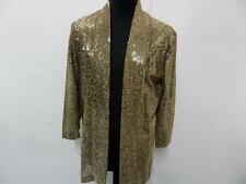 """Open front sequin cover up WOMENS Golden/black Size 19 38"""" V GOOD SKU NO WB146"""