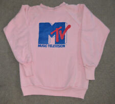 Vtg MTV EARLY 1980s Healthknit Crewneck Sweatshirt Small 34-36 Retro Made in USA