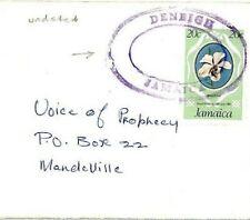 CS55 Jamaica Undated *DENBIGH* TRD Cover Superb Strike FLOWERS {samwells-covers}