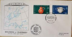 """Guernsey Stamps: """"Guernsey Crafts"""" - First Day Cover 1976"""