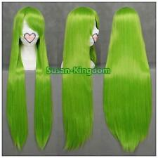 Code geass c.c femme longue robe fantaisie cosplay wigs straight full wigs green