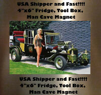 Marilyn Munster Man Cave DECOR Fridge Magnet sign Bar Shop Hot Rod Toolbox Shop