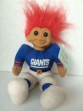 Giants NFL Good Luck Troll Doll Russ Football W Tag Has Wear 1991