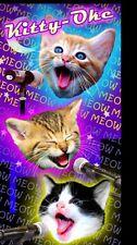 "Kitty Oke Beach Towel  Cute Cats 30""x60"" Towel Animal Cats Beach Towel"