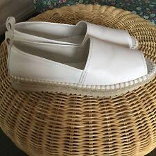 DKNY white MIRA shoes women size 8 US V676980 flthk 5363270 espadrille