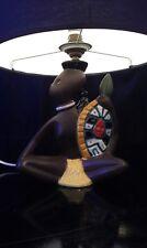 Lampe en céramique années 50 Guerrier africain !!!