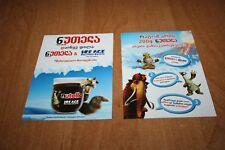 Ferrero Werbekarte Nutella Ice Age Georgien