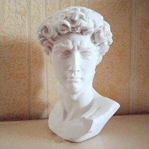 David Portraits Head Bust Gypsum Statue Michelangelo Sculpture Decor Resin Craft