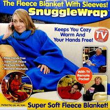 Snuggle Supper Home Winter Warm Fleece Throw Lazy Blanket Robe With Sleeve Sofa$