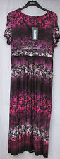 Ladies Marks and Spencer per Una Pink & Purple Mix Floral Maxi Dress Size 14