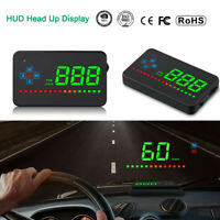 1x GPS HUD Digital Car Head Up Display Speedometer Projector Auto Speed Warning