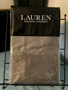 RALPH LAUREN 100% Cotton~Charcoal Grey~300TC DUNHAM SATEEN PILLOWCASES~Standard