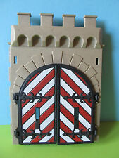 Playmobil Tor groß rot weiß zu Ritterburg Stecksystem 3667 3450 3445 Torflügel
