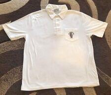 XL VINTAGE Humorous Scottish Scotland Bagpiper Polo Shirt Size Extra Large