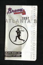 Atlanta Braves--1997 Pocket Schedule--Carpets of Dalton