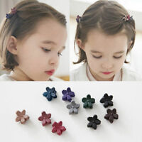 Lot 30x Mini Kids Baby Girls Candy Colour Hairpins Claw Hair Clips Clamp Flower