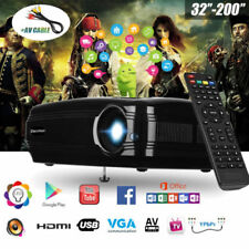 Full HD 1080P WiFi Android6.0 Projektor 3D LED 3200LM HDMI Heimkino Beamer BT 8G