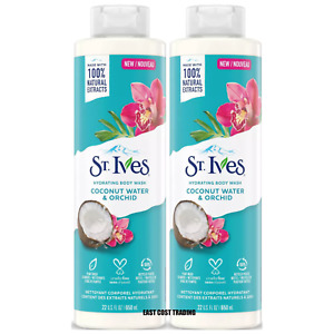2 PACK ST. IVES COCONUT WATER AND ORCHID HYDRATING BODY WASH 22 fl oz
