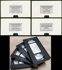 Original 2002 Matt Furey Combat Stretching Training MMA NTSC VHS 4 Tapes