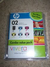 HP Vivera Ink 02 Combo Pack 6 HP Ink Cartridges EXPIRED 06/2009 Sealed in Box