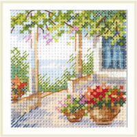 Counted Cross Stitch Kit ALISA - Flower porch