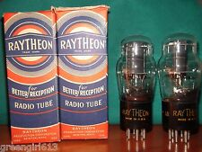 Matched Pair Raytheon #43 Vacuum Tubes Result = 82 79