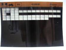 Kawasaki KX250 1982 Parts List Microfiche NOS k251